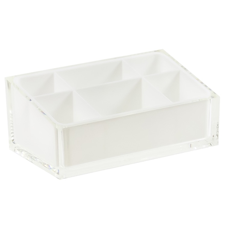 Make-up Tray, Gedy RA00-02, Make-up Tray Made of Thermoplastic Resins in White Finish