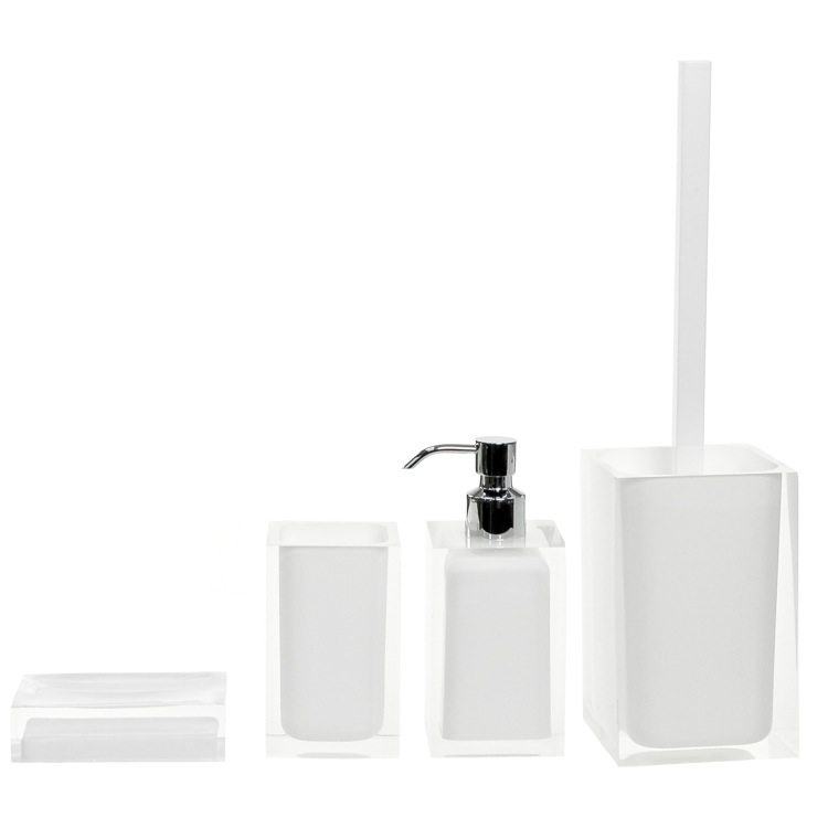 Bathroom Accessory Set, Gedy RA100-02, White Accessory Set of Thermoplastic Resins