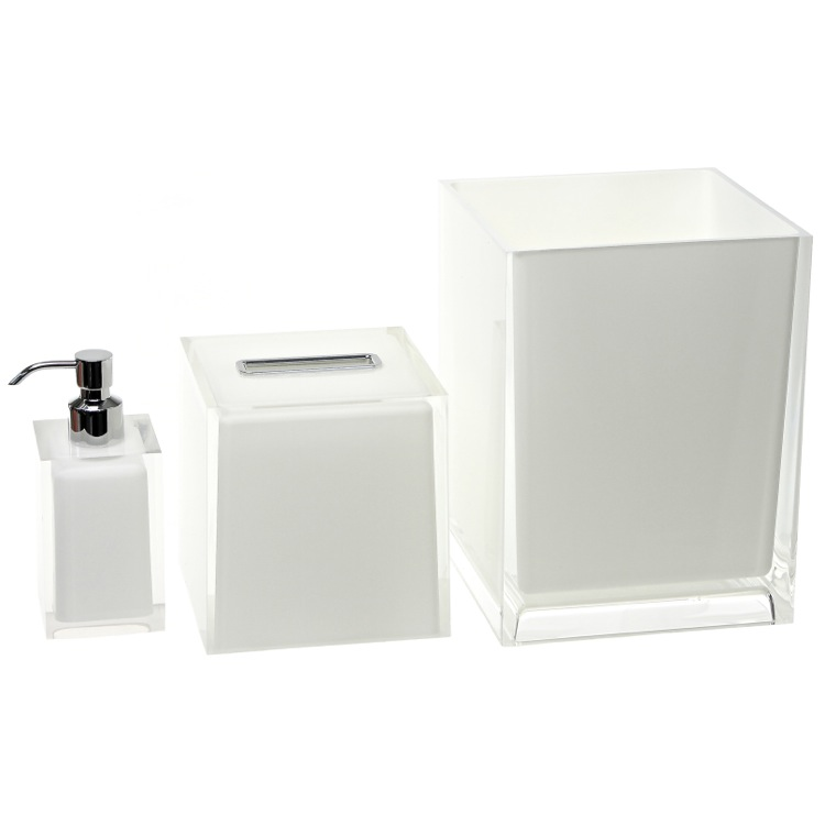 Bathroom Accessory Set, Gedy RA1092-02, 3 Piece White Accessory Set