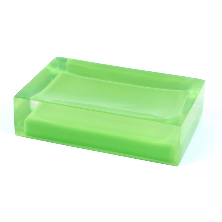 Soap Dish, Gedy RA11-04, Decorative Green Soap Holder