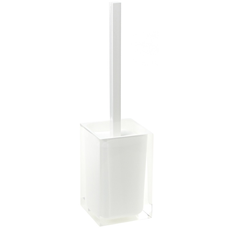 Toilet Brush, Gedy RA33-02, Modern Toilet Brush Holder in White