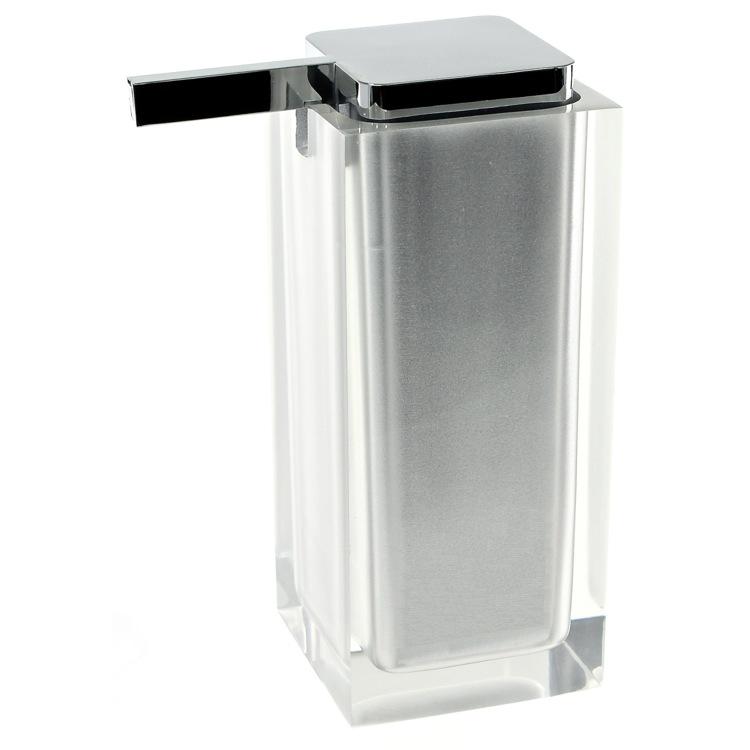 Soap Dispenser, Gedy RA80, Square Countertop Soap Dispenser RA80