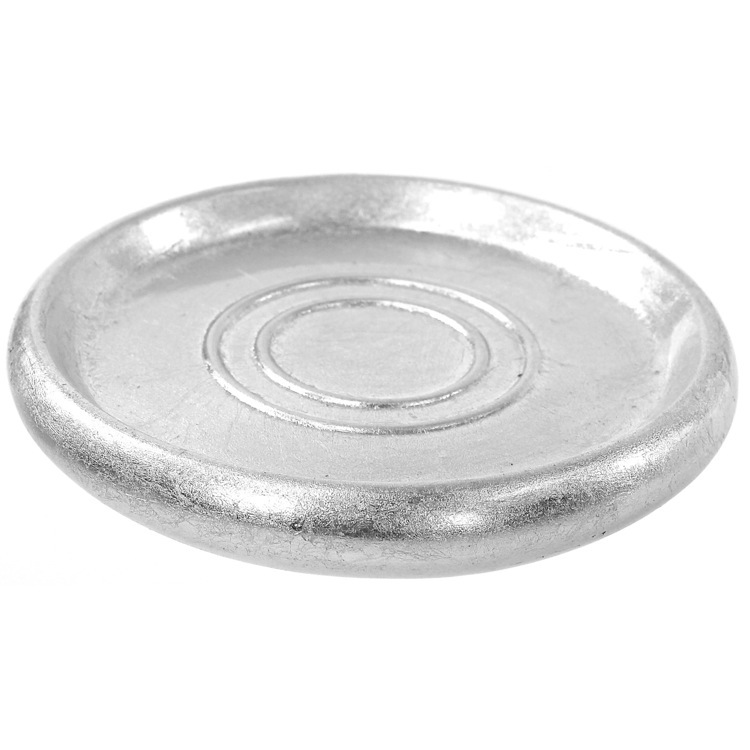 Soap Dish, Gedy SO11-73, Round Silver Soap Dish in Pottery