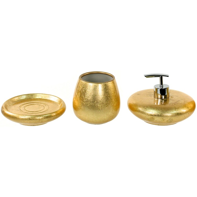 Gold bathroom accessories crowdbuild for for Gold bathroom accessories sets