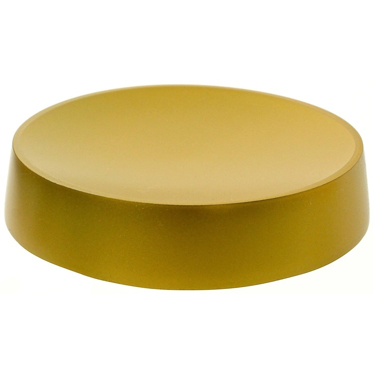 Soap Dish, Gedy YU11-87, Gold Free Standing Round Soap Dish in Resin