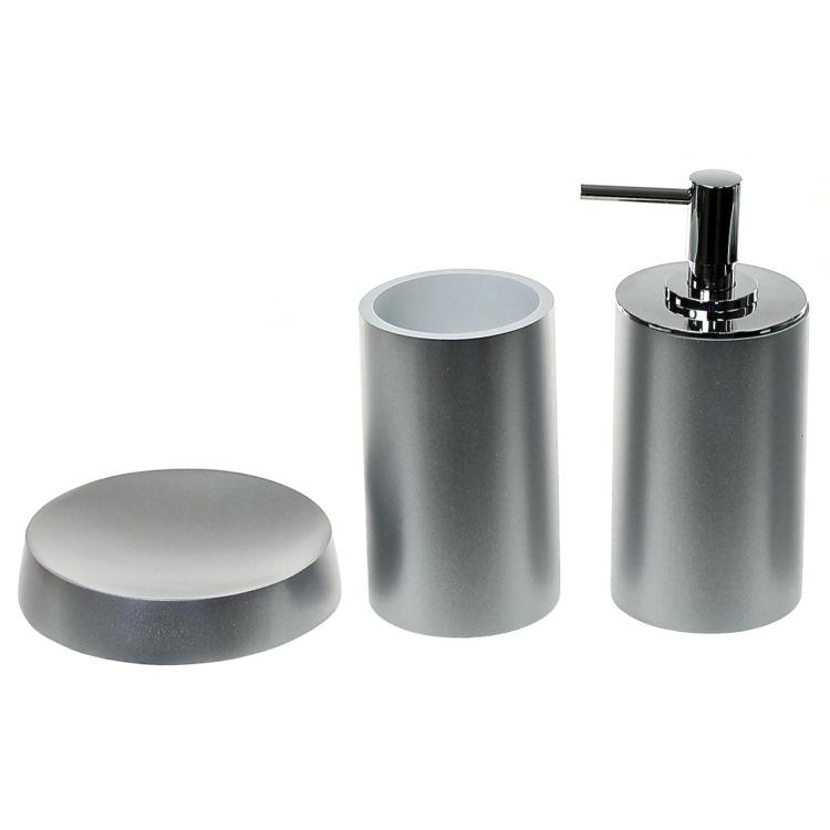 Silver Bathroom Accessories : Bathroom Accessory Set, Gedy YU280-73, Silver Bathroom Accessory Set ...