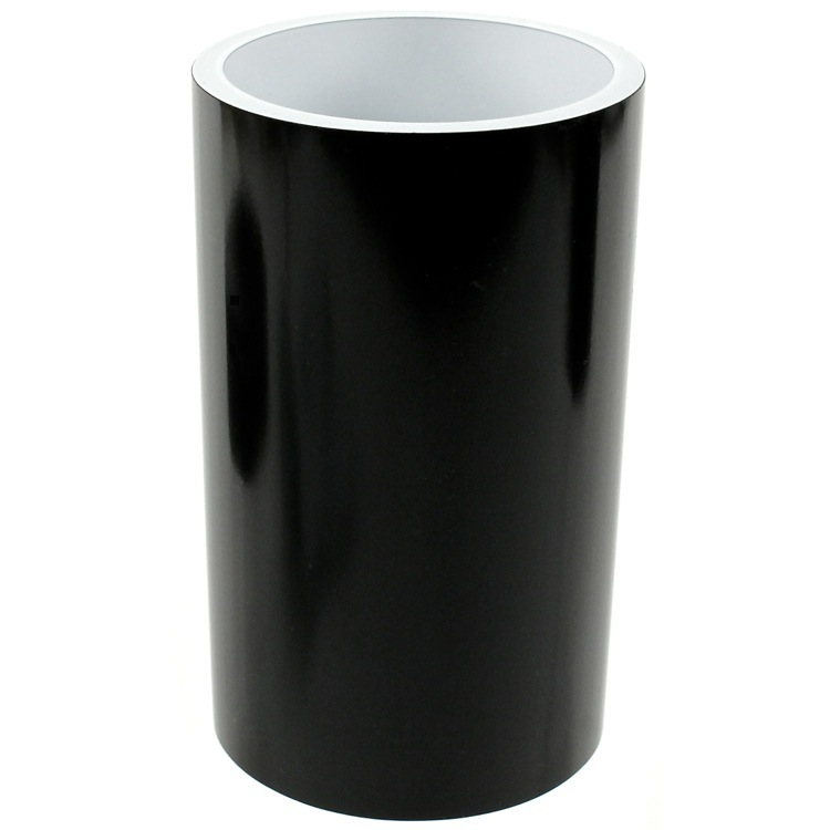 Toothbrush Holder, Gedy YU98-14, Black and Round Bathroom Tumbler in Resin