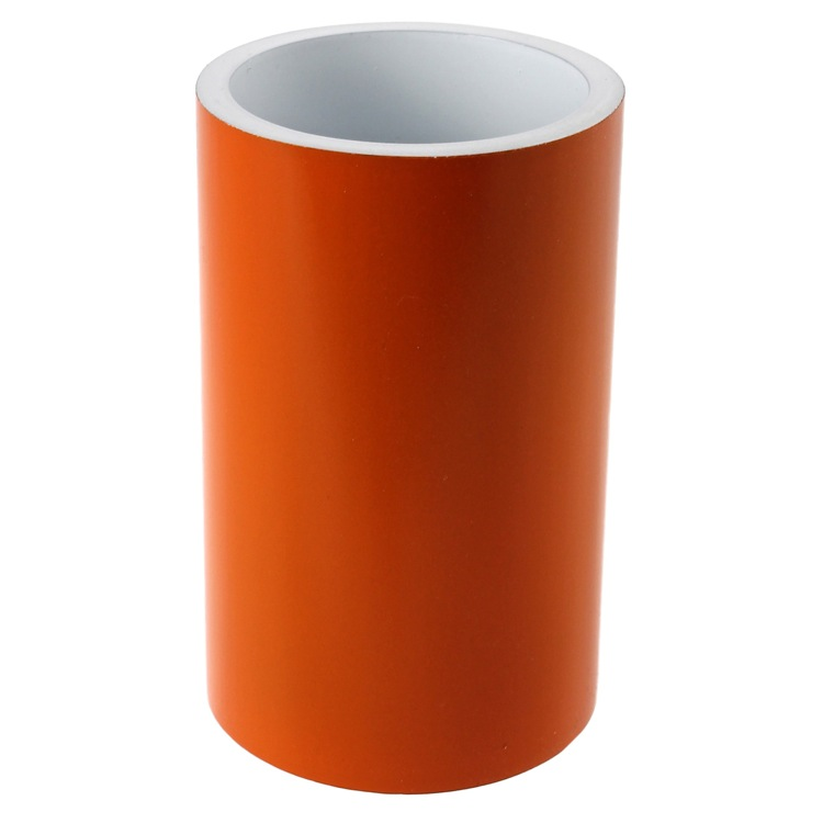 Toothbrush Holder, Gedy YU98-67, Free Standing Orange Round Tumbler