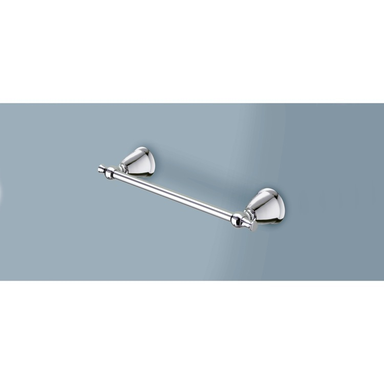 Towel Bar, Gedy LI21-35-13, 14 Inch Polished Chrome Towel Bar
