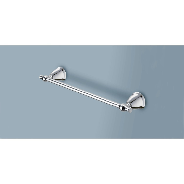 Towel Bar, Gedy LI21-45-13, 18 Inch Polished Chrome Towel Bar