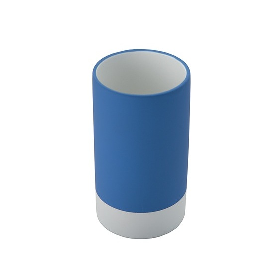 Toothbrush Holder, Gedy MZ98-11, Round Pottery Toothbrush Tumbler Available in Blue Finish