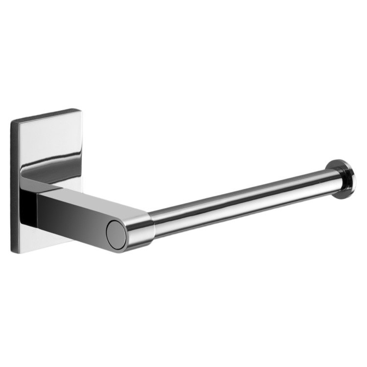 Toilet Paper Holder, Gedy 7824-13, Modern Round Chrome Toilet Roll Holder