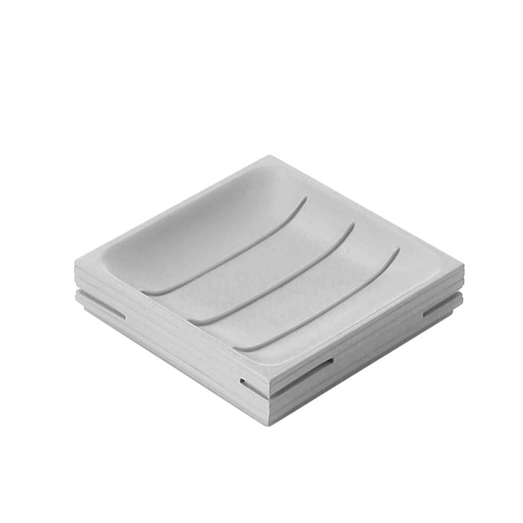 Soap Dish, Gedy QU11-08, Modern Square Grey Soap Holder