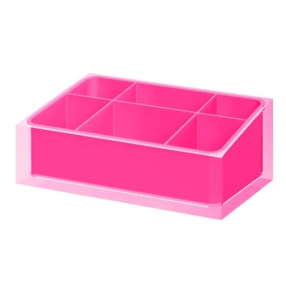 Make-up Tray, Gedy RA00-76, Make-up Tray Made of Thermoplastic Resins in Pink Finish