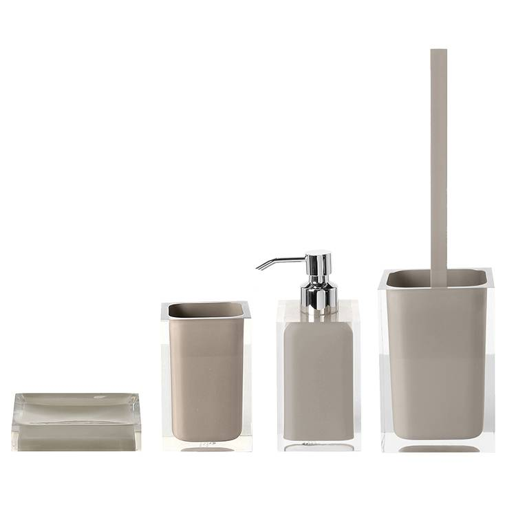 Bathroom Accessory Set, Gedy RA100-66, Light Turtledove Thermoplastic Resins Accessory Set