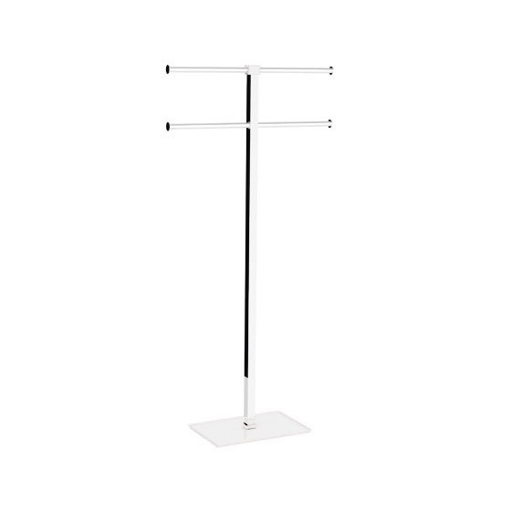 Towel Stand Gedy Ra31 02 White Floor Standing Rack Of Resin And
