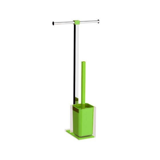 Bathroom Butler, Gedy RA32-04, Steel and Resin Bathroom Butler in Green