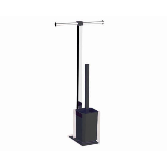 Bathroom Butler, Gedy RA32-14, Steel and Resin Bathroom Butler in Black