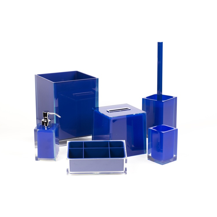 Bathroom Accessory Set, Gedy RA6081-05, 6 Piece Blue Accessory Set in Thermoplastic Resin
