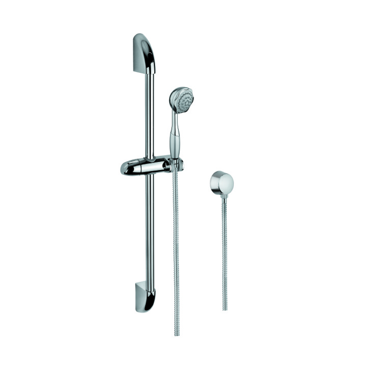 Sliding Rail Hand Shower Set, Gedy SUP1041, Chrome Shower Solution with Hand Shower, Sliding Rail and Water Connection