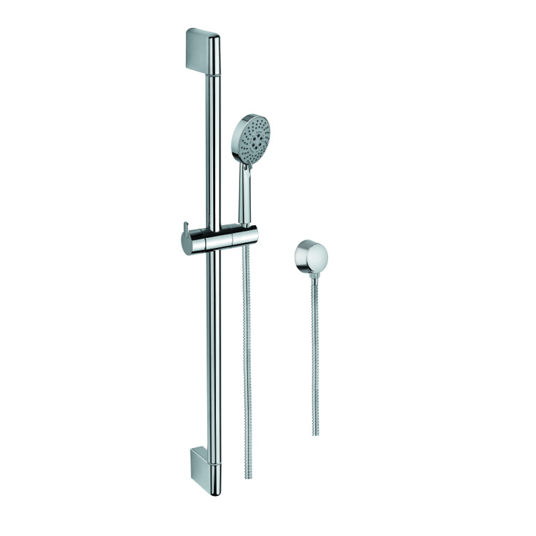 Gedy Thermostatic Shower Column.Sliding Rail Hand Shower And Water Connection In Chrome