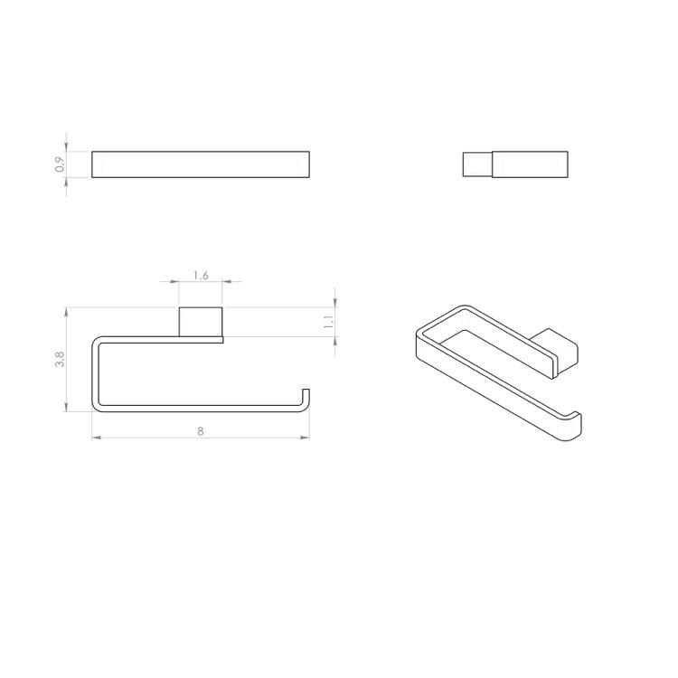 /Towel Ring G Gedy pi701300100/ PIRENEI Chrome
