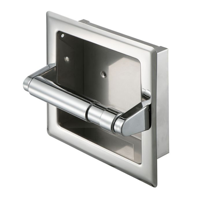 Toilet Paper Holder, Geesa 120, Stainless Steel Recessed Toilet Roll Holder