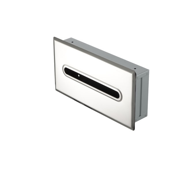 Tissue Box Cover Geesa 123 Stainless Steel Recessed