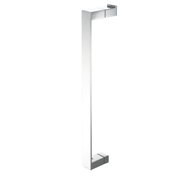 Modern Art Chrome Br Shower Door