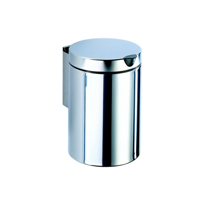 Waste Basket, Geesa 624 C, Stainless Steel Round Wall Mounted Bathroom  Waste Bin