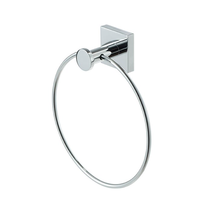 Geesa 6804 02 By Nameeks Nelio Chrome Brass Towel Ring Thebathoutlet