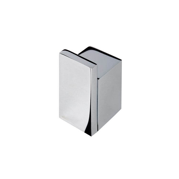 . Chrome Contemporary Square Towel or Robe Hook