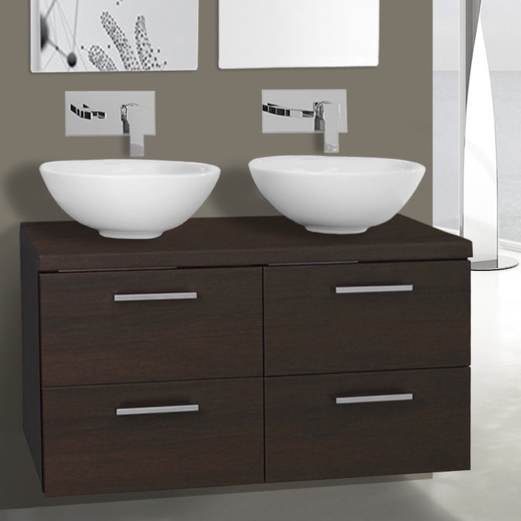 Iotti An32 By Nameeks Aurora 37 Inch Wenge Double Vessel Sink