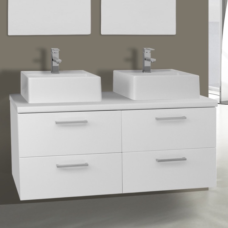 Iotti An51 By Nameek S Aurora 45 Inch Glossy White Double Vessel