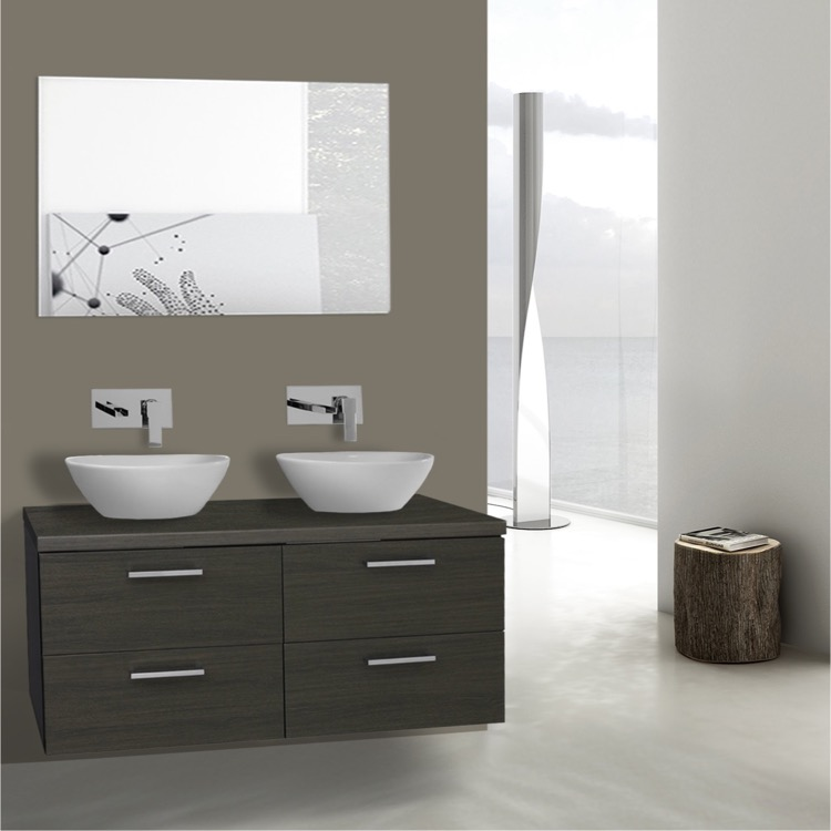 Iotti An451 By Nameeks Aurora 45 Inch Grey Oak Double Vessel Sink