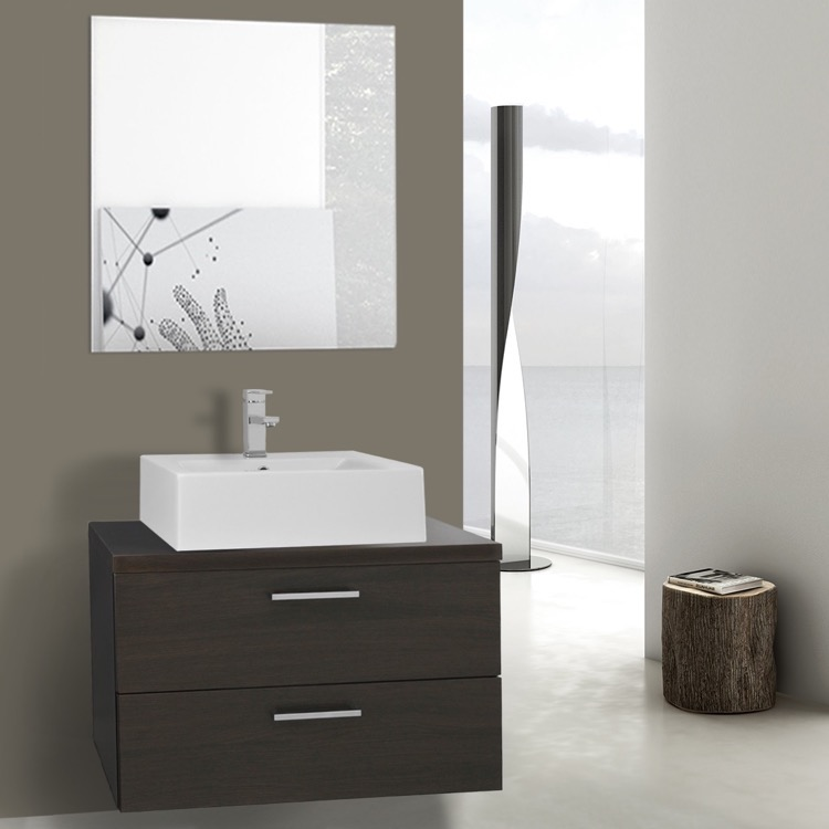Iotti An671 By Nameeks Aurora 30 Inch Wenge Vessel Sink Bathroom