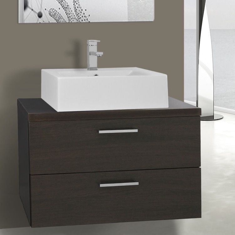 Iotti An65 By Nameeks Aurora 30 Inch Wenge Vessel Sink Bathroom
