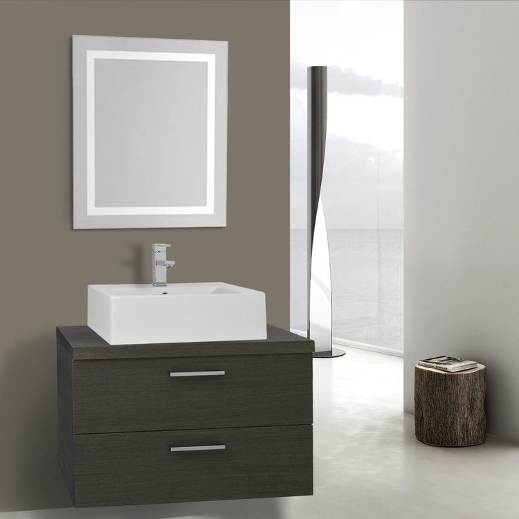 Iotti An2149 By Nameeks Aurora 30 Inch Grey Oak Bathroom Vanity