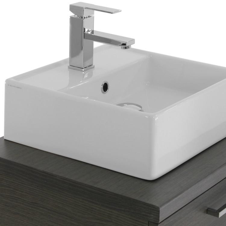 Iotti An47 By Nameek S Aurora 22 Inch Grey Oak Vessel Sink Bathroom Vanity Wall Mounted Thebathoutlet