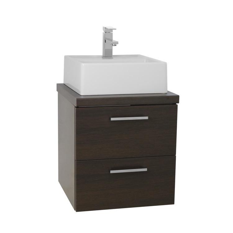 Bathroom Vanity, Iotti AN18, 19 Inch Wenge Small Vessel Sink Bathroom ...