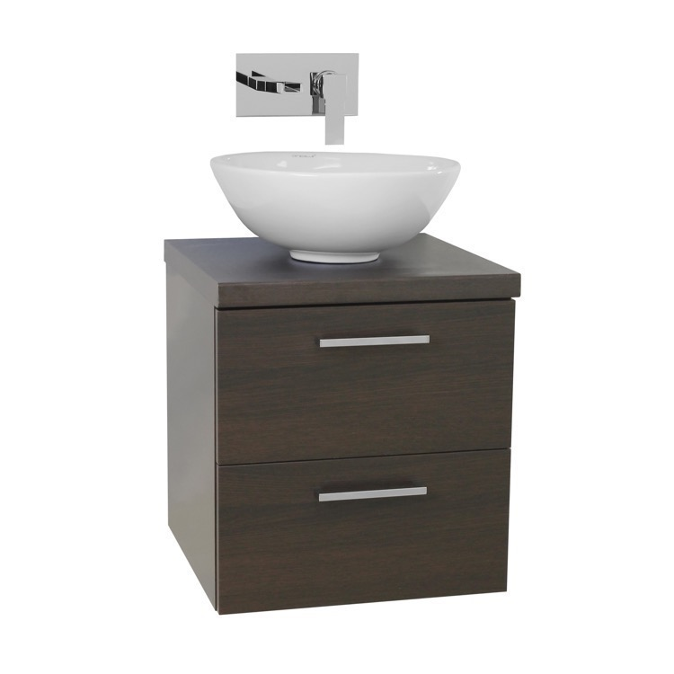 Small Bathroom Vanities With Vessel Sinks : Bathroom Vanity, Iotti AN20, 19 Inch Wenge Small Vessel Sink Bathroom ...