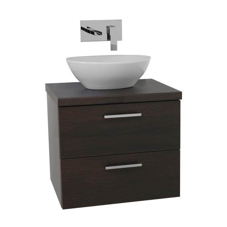 Bathroom Vanity Iotti AN41 22 Inch Wenge Vessel Sink Bathroom Vanity