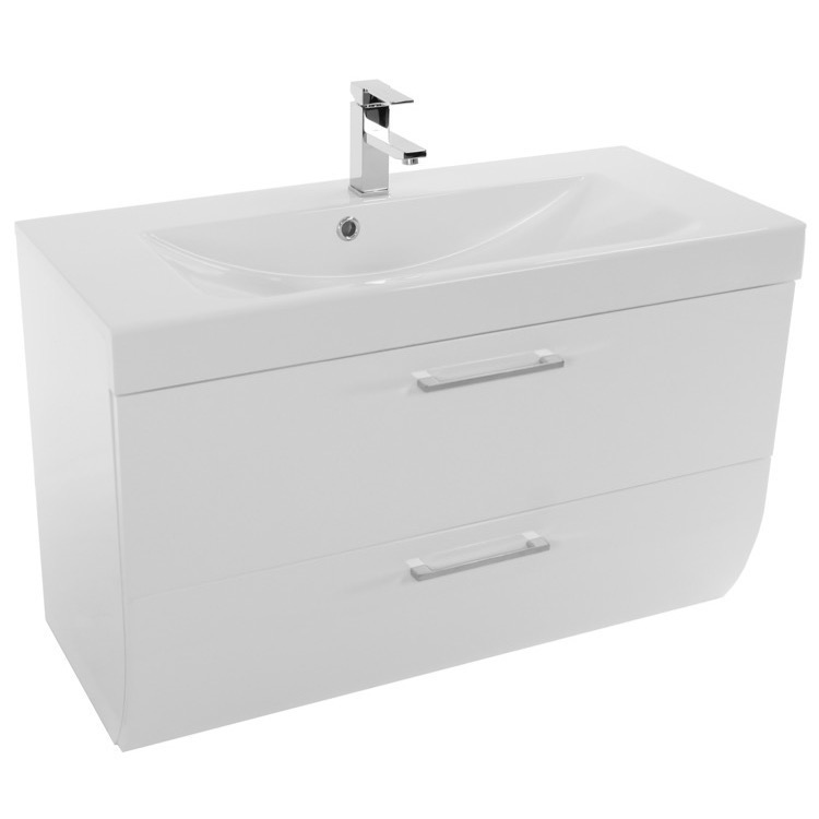 30 inch wall mount glossy white bathroom vanity cabinet with sink wc01