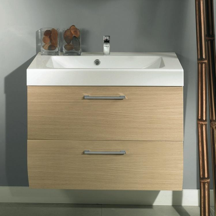Bathroom Vanity, Iotti NN3C, 2 Drawers Vanity Cabinet With Self Rimming Sink