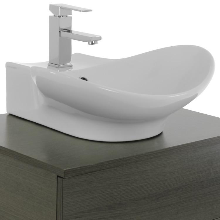 bathroom vanity iotti tn458 24 inch grey oak vessel sink bathroom