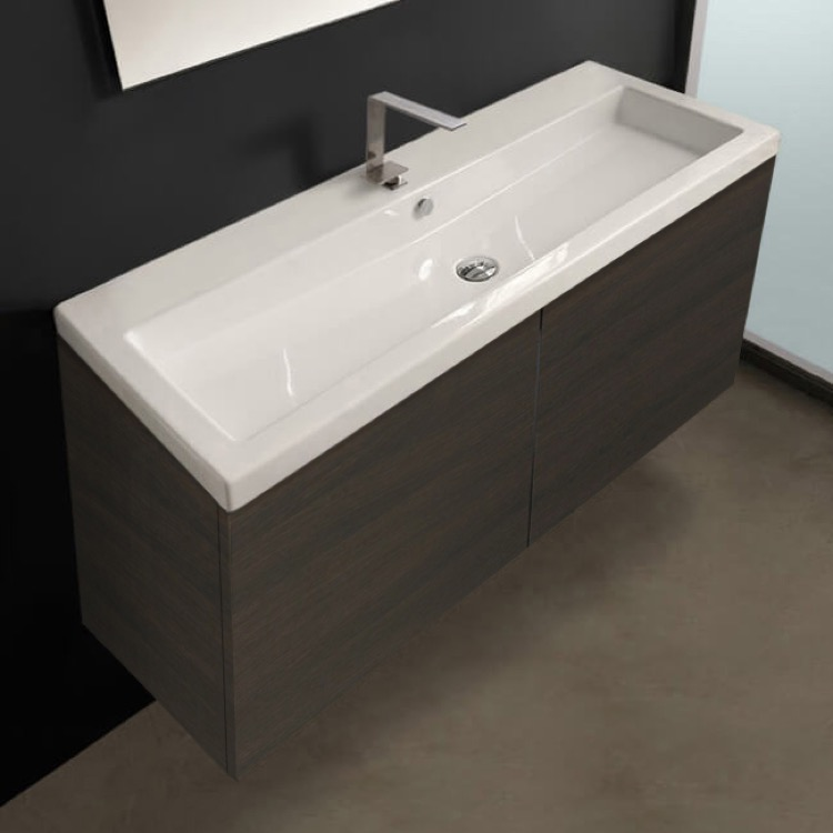 Iotti Se05c By Nameek S Space 47 Inch Vanity Cabinet With Self Rimming Sink Thebathoutlet