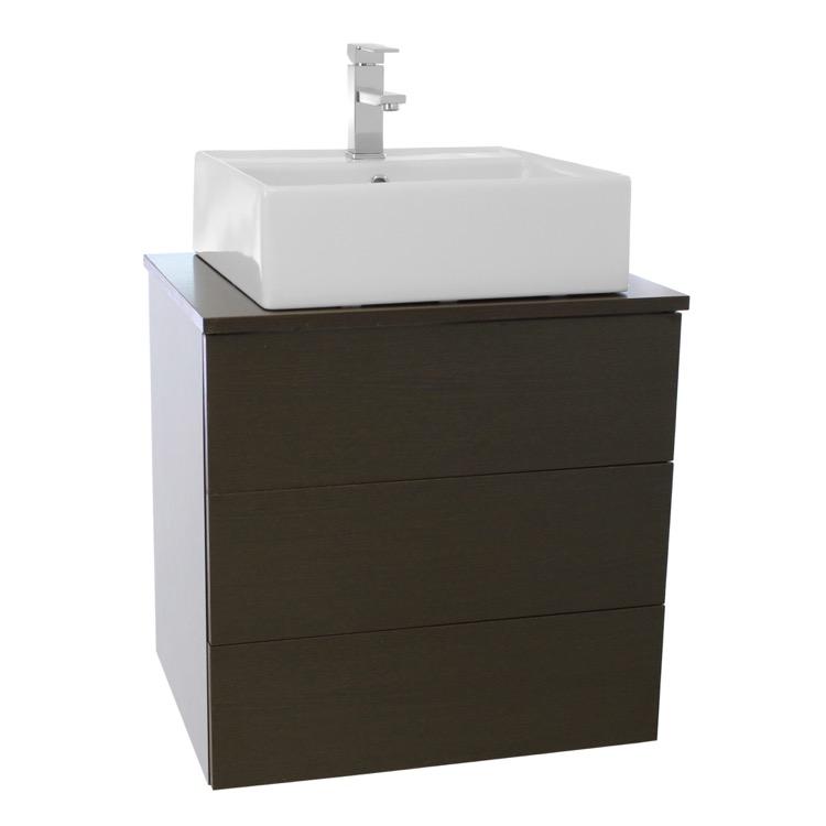 Bathroom Vanity, Iotti TN10, 24 Inch Wenge Vessel Sink Bathroom Vanity ...