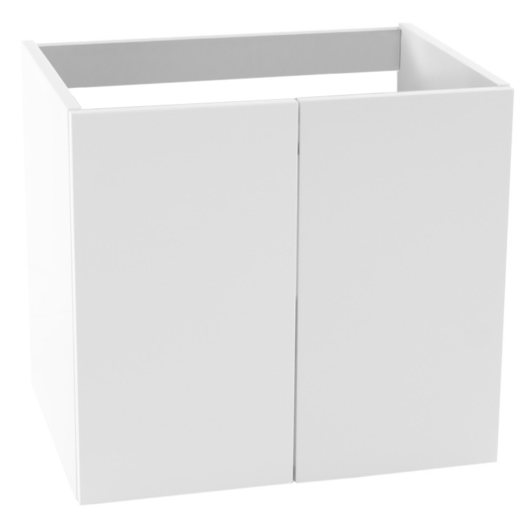 vanity cabinet iotti ms01 23 inch wall mount glossy white bathroom
