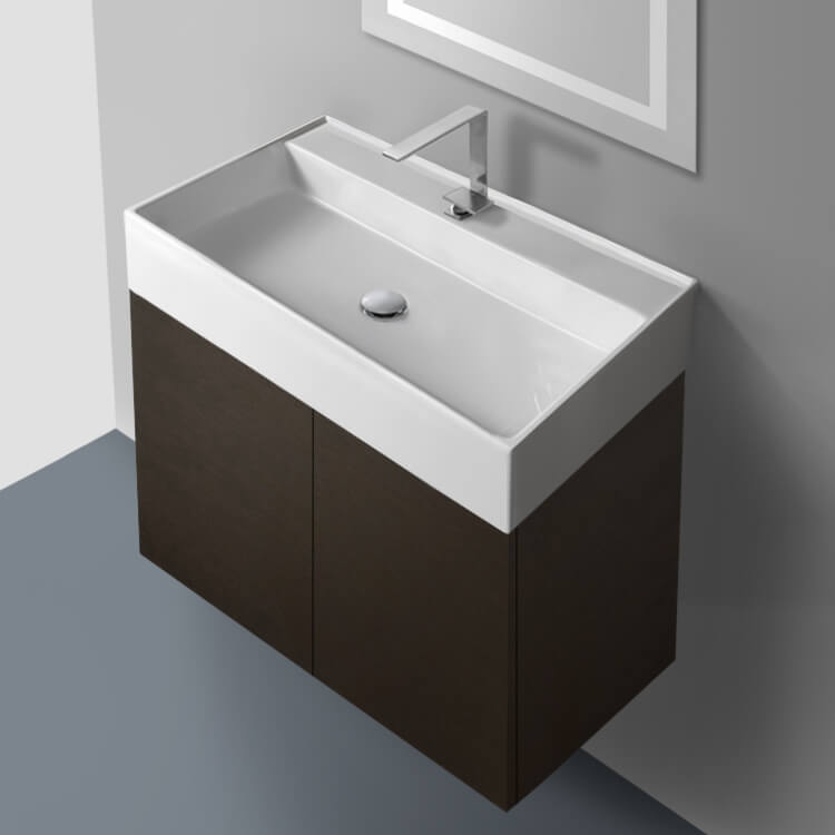 Iotti Sm03c By Nameek S Smile 31 Inch Vanity Cabinet With Self Rimming Sink Thebathoutlet