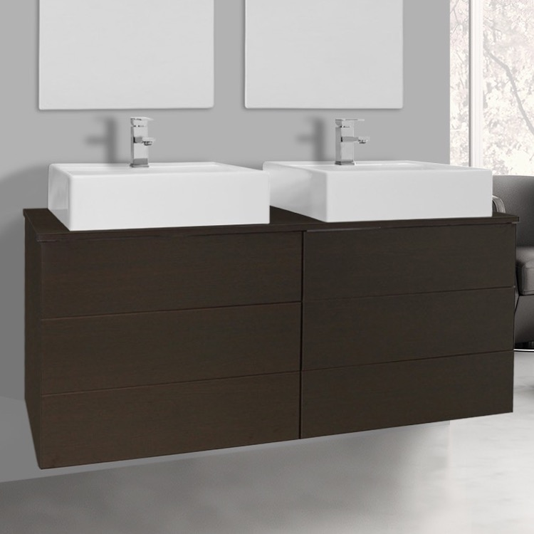 Bathroom Vanity, Iotti NT4C, 4 Drawers Vanity Cabinet With Vessel Sink